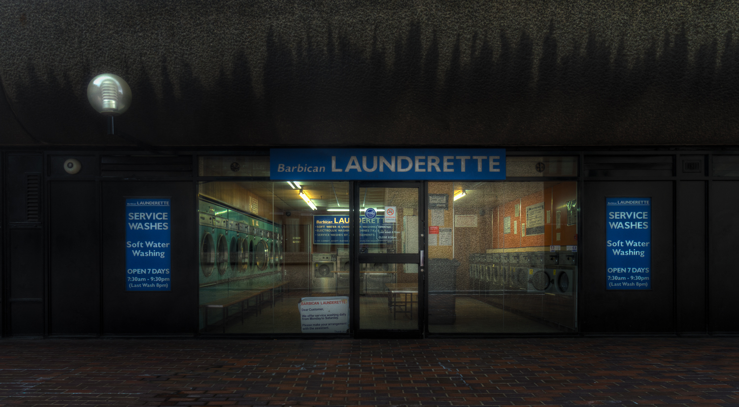 A Brutalist Laundrette at The Barbican